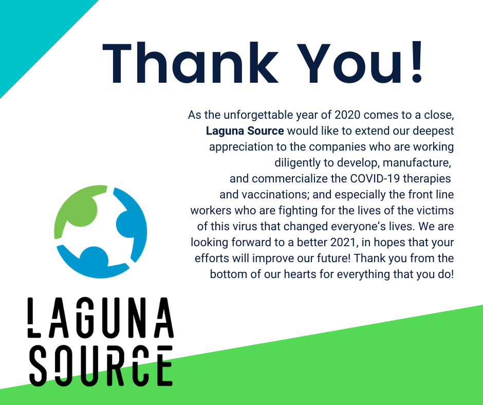 Laguna Source would like to extend our deepest appreciation